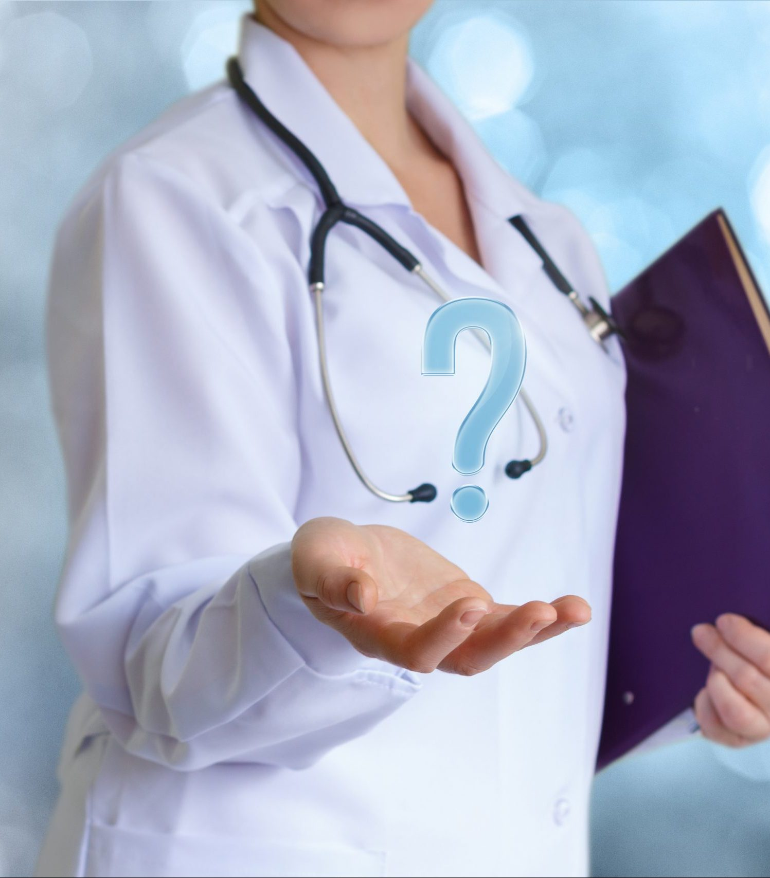 Doctor answers questions.